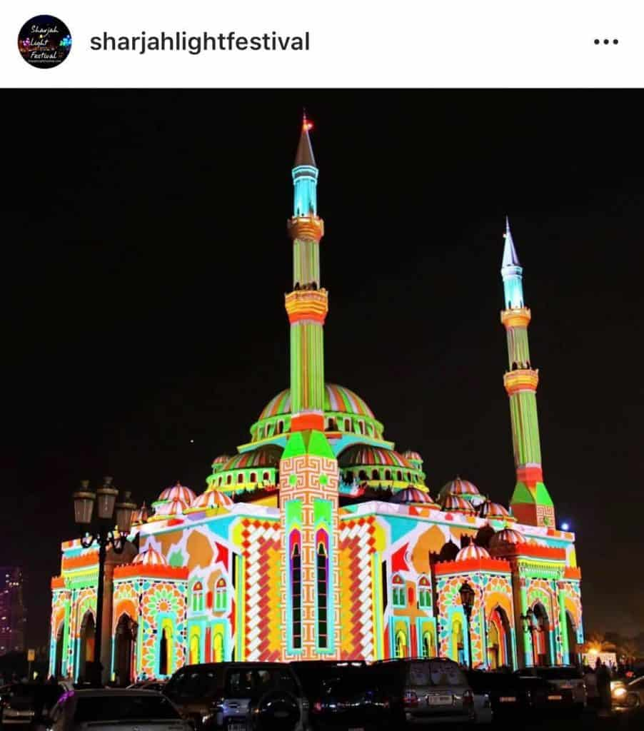 Sharjah Light Festival, themed 'Culture and Family'