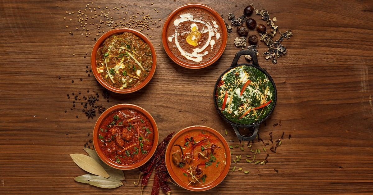 Pahadi Murgh, Mutton Nihari, Fish Machli Kari, Palak Paneer & Dal-e-Claypot