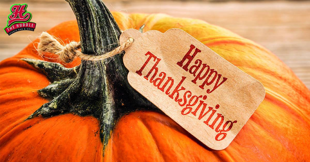 Happy Thanksgiving at Huddle Citymax Hotels