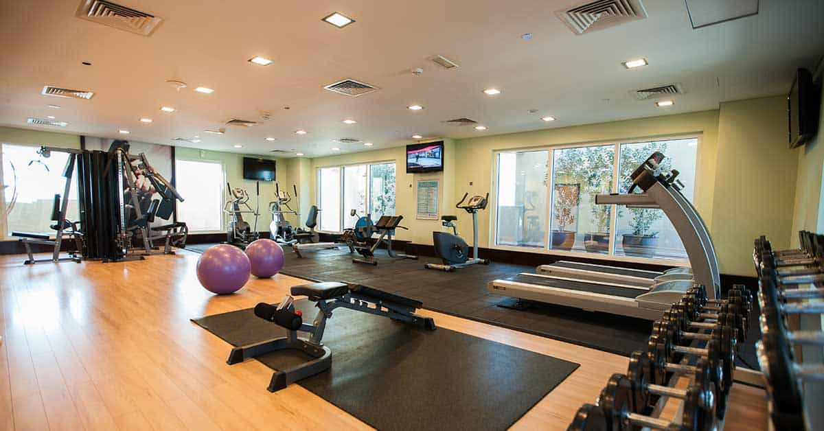 Fully equipped gym at Citymax Hotel Al Barsha At The Mall