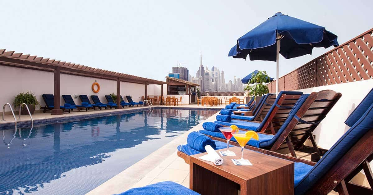 Rooftop pool at Citymax Hotel Bur Dubai