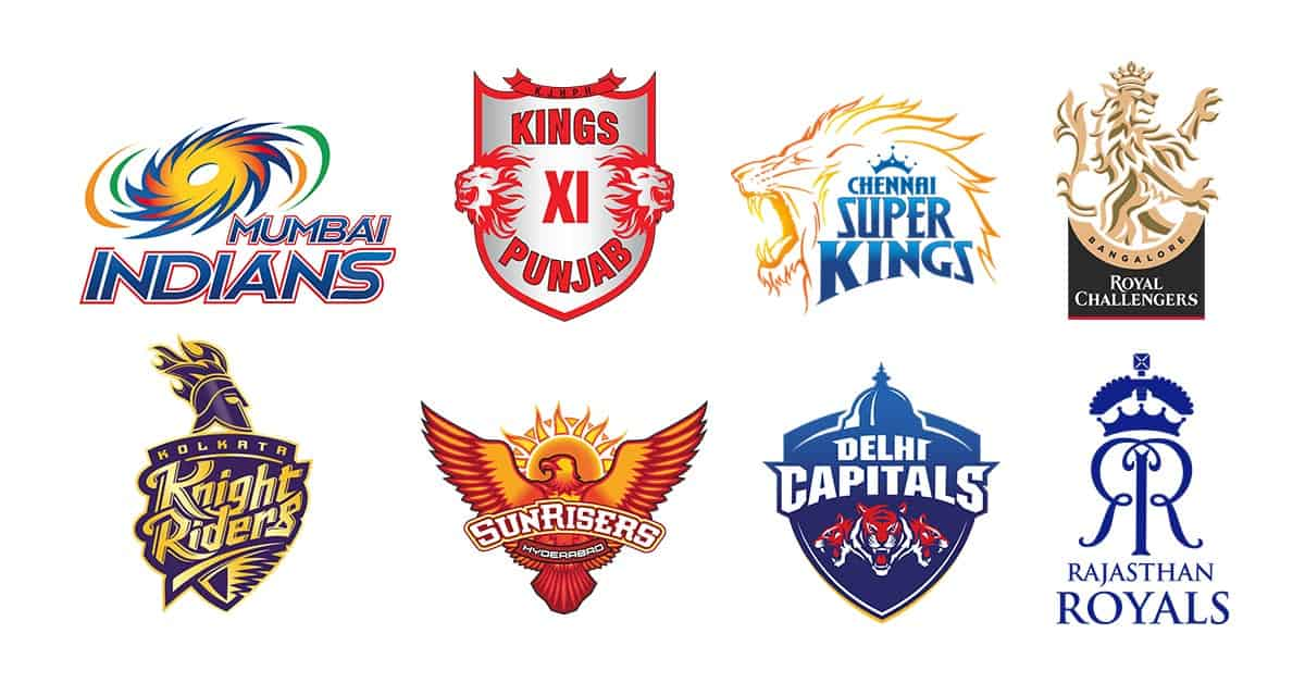 Teams making up the IPL 2020 league