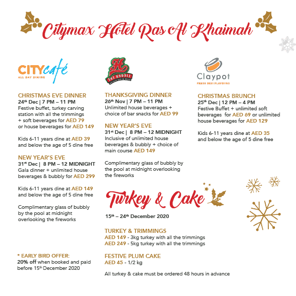 Festive Events at Citymax Hotels Ras Al Khaimah