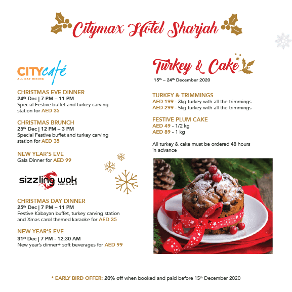 Festive Events at Citymax Hotels Sharjah