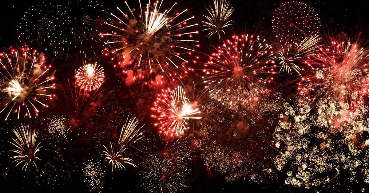 New Year Fireworks from Aqua Pool Bar Citymax Hotels Bur Dubai
