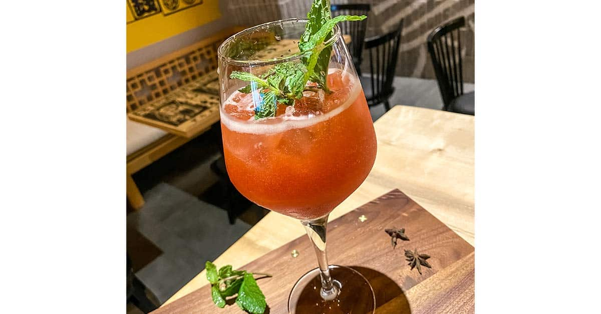 Shanghai Swizzle - An Asian Cocktai at Sizzling Wok Business Bay